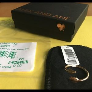 Alex and Ani Erros Ring Wrap 14kt Rose Gold Plated
